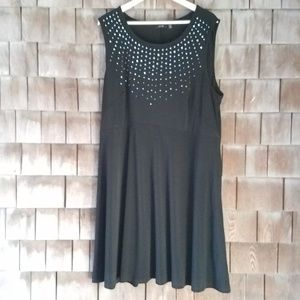 Apt 9 Sleeveless Dress Plus Size 2X Black Beaded